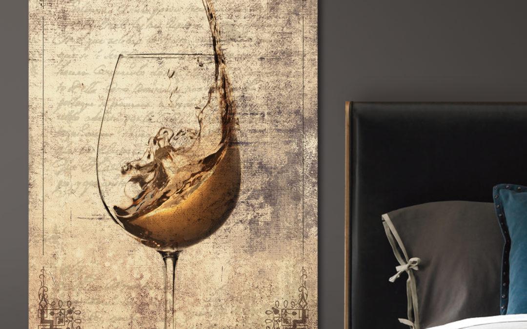 white wine wall art